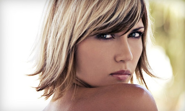 Versailles Salon & Spa - Modesto: Haircut and Basic Style with Color or Highlights at Versailles Salon & Spa (Up to 57% Off)