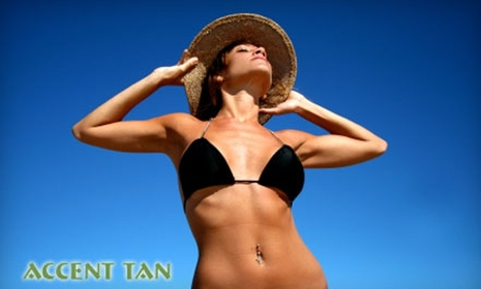 Accent Tan - South Side: Tanning Services at Accent Tan (Up to $115 Value). Choose from Three Options.