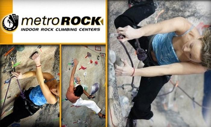 MetroRock Indoor Climbing - Boston: $49 for a One-Month Rock-Climbing Membership, Full Equipment Rental, and One Beginner-Level Class at MetroRock ($179 Average Value)