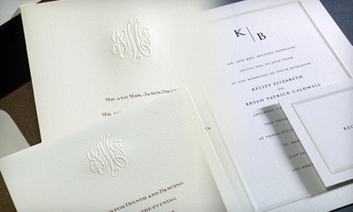 Paper & Ink by Betsy Coats - Detroit: $50 for $100 Toward Wedding Invitations from Paper & Ink by Betsy Coats