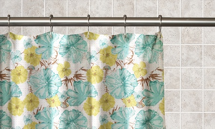 Floral 13-Piece Waterproof Shower Curtain Set