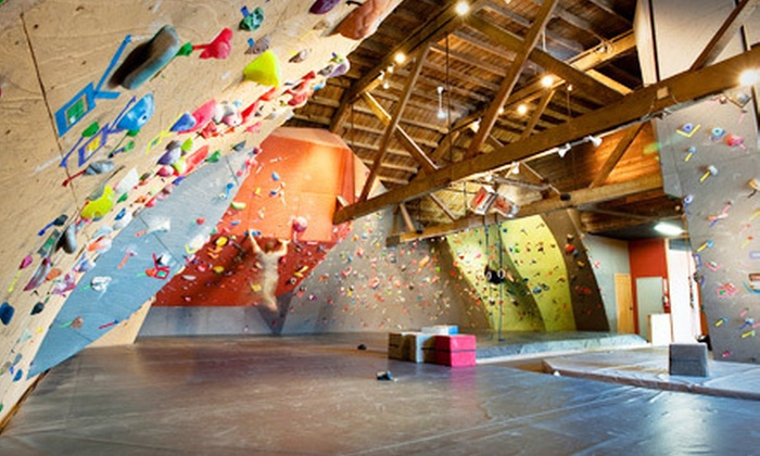 Vertical World - Tacoma: One-Day Rock-Climbing Pass with Shoe Rental for One or Two or One-Month Pass at Vertical World in Tacoma (Up to 56% Off)