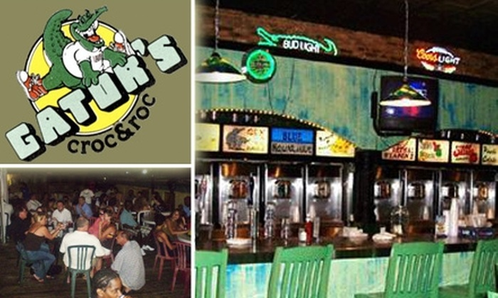 Gators Croc & Roc Rooftop Restaurant  - Dallas: $10 for $25 Worth of Grub and Guzzle at Gators Croc & Roc Rooftop Restaurant