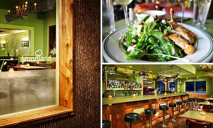 Woodland - South River City: $25 for $50 Worth of Food and Drink at the Woodland