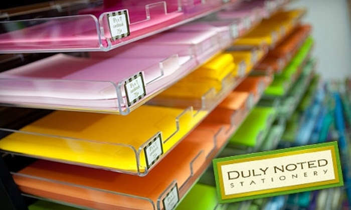 Duly Noted Stationery - Downtown Halifax: $15 for $30 Worth of Stationery, Cards, Gifts, and More at Duly Noted Stationery
