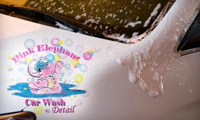 Chevron Pink Elephant Car Wash - Taku / Campbell: $6 for a Wash 'n' Shine Car Wash at Chevron Pink Elephant Car Wash