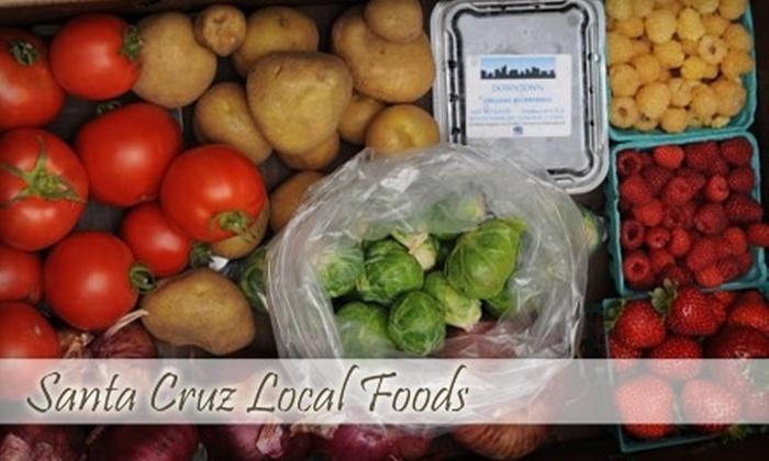 Santa Cruz Local Foods - Multiple Locations: $15 for a Local Grocery Box from Santa Cruz Local Foods ($30 Value)