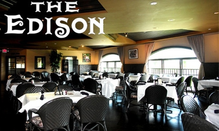 The Edison Restaurant & Bar - Fort Myers: $20 for $40 Worth of Traditional American Cuisine and Drinks at The Edison Restaurant & Bar