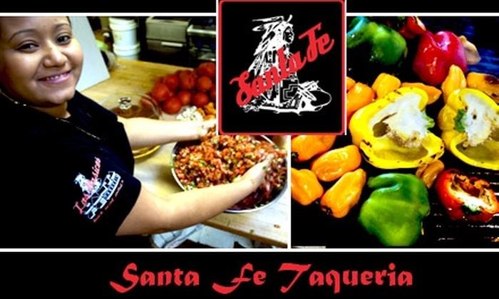 Santa Fe Taqueria - Northwest District: $10 for $25 Worth of Mexican Cuisine and Drinks at Santa Fe Taqueria