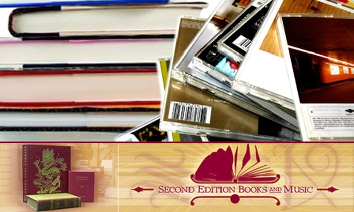 Second Edition <br>Books and Music - Columbia: $15 for $35 Worth of Books, DVDs, CDs, Vinyl, and More at Second Edition Books and Music