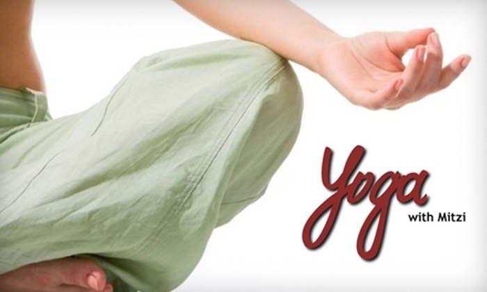 Yoga With Mitzi - Multiple Locations: $25 for Five Classes at Yoga With Mitzi ($70 Value)