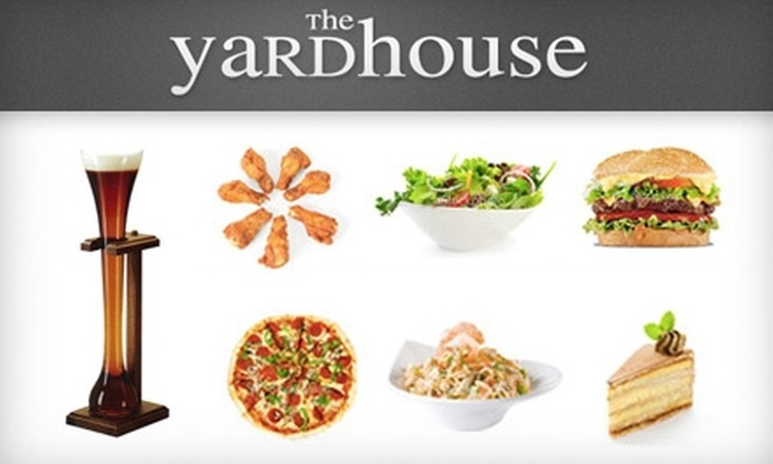 The Yardhouse - Multiple Locations: $15 for $30 Worth of Eclectic Pub Fare and Drinks at The Yardhouse