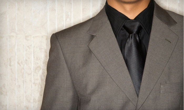 La Moda - Eastern San Diego: Men's Custom-Suit Package or H. Freeman Custom-Suit Package, Including One Suit, One Necktie, and Minor Alterations, at La Moda (Up to 52% Off)