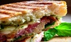 $5 for Sandwiches at Cafe Fudgelato in Alameda