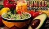 3 Amigos Mexican Restaurant - 6: $7 for $15 Worth of Fare and Drinks at 3 Amigos Mexican Grill