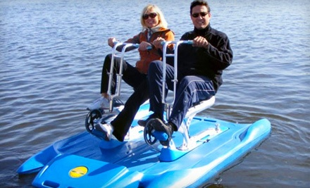 2-Hour Single-Seater Water Bicycle Rental (a $38 value) - Vancouver Water Adventures in Vancouver