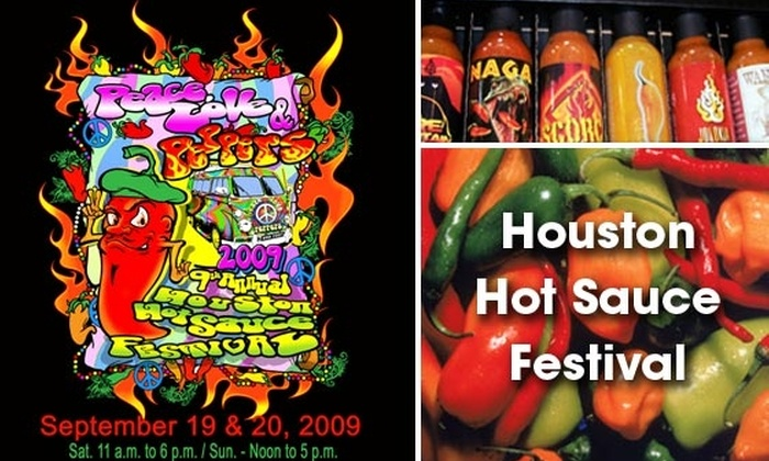 Houston Hot Sauce Festival - Stafford Centre: $5 for Two Tickets to Houston Hot Sauce Festival September 19th or 20th ($10 Value)