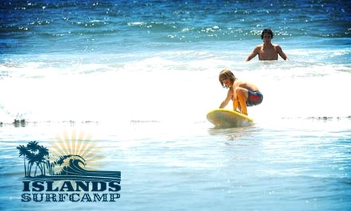 Islands Surf Camp - Multiple Locations: $40 for a Two-Hour, Semi-Private Surf Lesson from Islands Surf Camp ($80 Value)