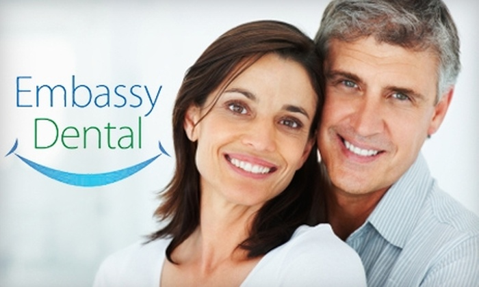 Embassy Dental - Multiple Locations: $79 for an X-Ray, Exam, and Complimentary Whitening at Embassy Dental ($384 Value)