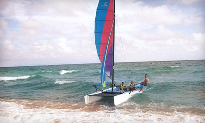 American Watersports Inc - Sea Gardens Beach & Tennis: Sailboat Lesson and Rental or Two-Hour Rental from American Watersports Inc in Pompano Beach (Up to 54% Off)
