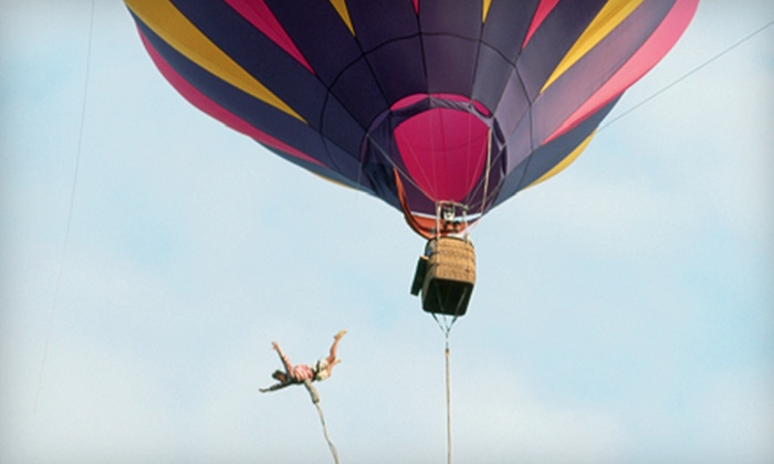 Adventurist Air - Lewiston: Hot Air Balloon Bungee-Jump Experience from Adventurist Air in Lewiston. Six Dates Available.