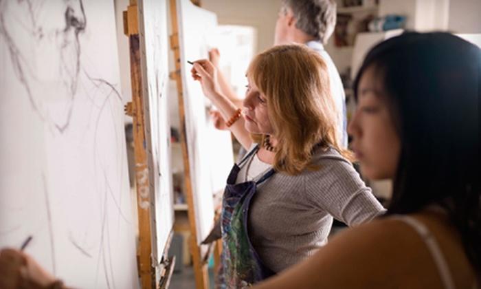 Ann Bridges Art Studio - Mid-Wilshire: BYOB Painting Class for One or Two at Ann Bridges Art Studio