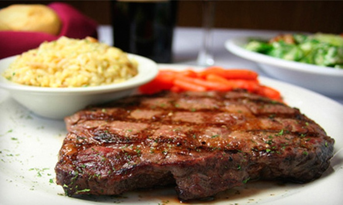Parker House Grille - Dracut: American Fare for Dinner for Two, Four, or Six with Salad, Entrees, and Dessert at Parker House Grille in Dracut
