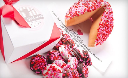 One Dozen Belgian-Chocolate-Covered Valentine Oreos (a $25 value) - Giant Fortune Cookie or Chocolate-Covered Oreos in