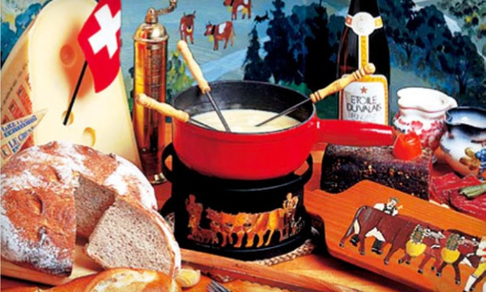 Lugano Swiss Bistro - Carmel-by-the-Sea: $27 for Cheese Fondue and Champagne for Two at Lugano Swiss Bistro (Up to $55.90 Value)