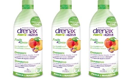 3 o 6 flaconi di Drenanti Drenax Fruits & Green da 750 ml