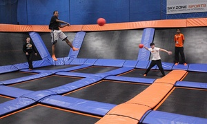 Sky Zone: Two One-Hour Jump Passes or 10 SkyFit Classes at Sky Zone (Up to 47% Off). Three Options Available.