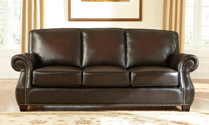 Hot Buy Leather Sofa Or Chair Groupon Goods