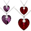 Mother and Daughter Heart Pendants
