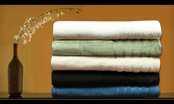 Spa Collection Bamboo Cotton Six-Piece Towel Set: $35 for a Spa Collection Six-Piece Towel Set ($120 List Price). Five Colors Available. Free Shipping and Free Returns.