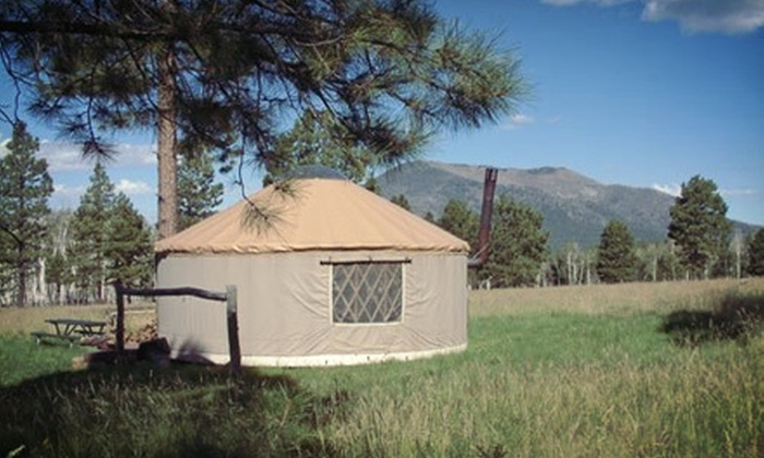 Off Grid Getaways at Flagstaff Nordic Center - Highway Marker 232: Two-Night Stay in a Cabin or Small or Large Yurt for Two at Off Grid Getaways at Flagstaff Nordic Center (Up to 52% Off)
