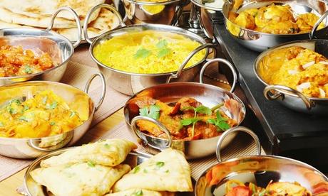 Menú de cocina india para 2 o 4 personas con entrante, principal, postre y bebida desde 24,90 € en Restaurante Noor