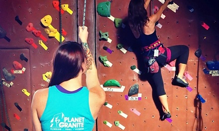 One-Week or One-Month Climbing Package for One or Two at Planet Granite (Up to 58% Off)