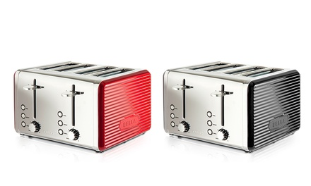 Bella 4-Slice Linea Toaster in Black or Red for £27.98 (53% Off)
