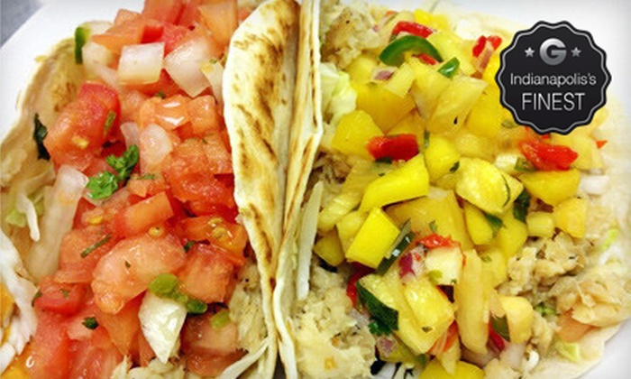 Monon Food Company - Broad Ripple: Gourmet Tacos and Soft Drinks for Two or Four at Monon Food Company (Up to 59% Off)