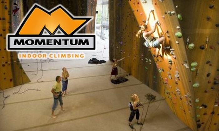 Momentum Indoor Climbing - Sandy: $65 for One-Month Membership, Gear Rental, and Two Instructional Classes at Momentum Indoor Climbing