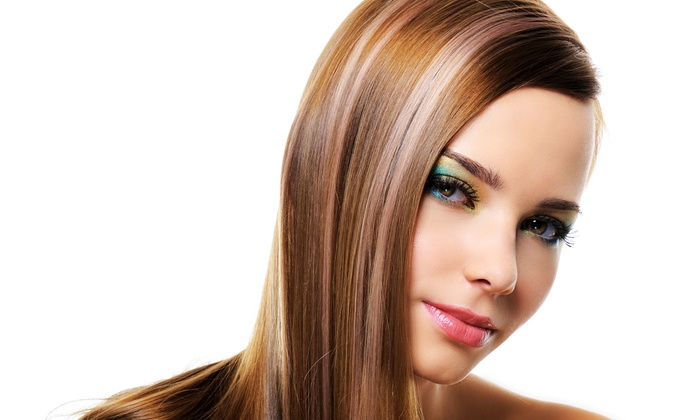 Ashley at Tek Salon & Spa - Costa Mesa: Haircut Packages with Options for Partial or Full Highlights at Ashley at Tek Salon & Spa (Up to 59% Off)