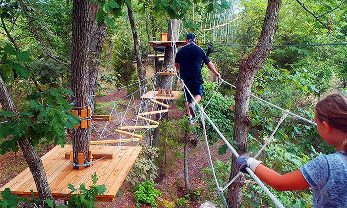 The Adventure Park at Sandy River Retreat - 201: One or Two Aerial Obstacle-Course Session for One at The Adventure Park at Sandy River Retreat (Up to 50% Off)