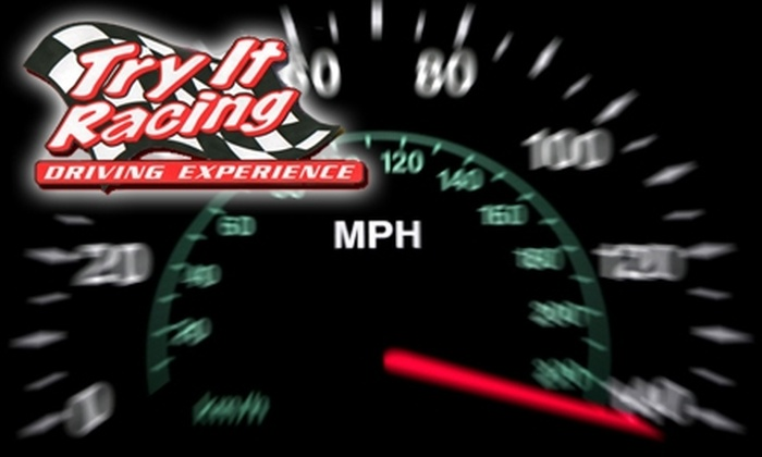 Stock Car Driving Experience Presents Try It Racing - Hampton Roads Center: $145 for Laps in a Stock Car with Stock Car Driving Experience Presents Try It Racing