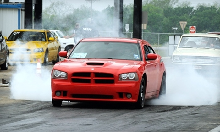 Texas Motorplex - Ennis: $14 for Two Admission Tickets to Thundering Thursdays Plus Two Burgers and Two Sodas at Texas Motorplex in Ennis ($28 Value)