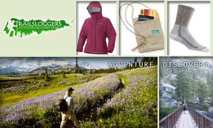Trailsloggers - San Jose: $25 for $50 Worth of Outdoor Adventuring Apparel and Gear at Trailsloggers