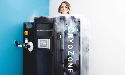 One or Three Whole-Body Cryotherapy Sessions and NormaTec Recovery Sessions at CryoZone (Up to 81% Off)