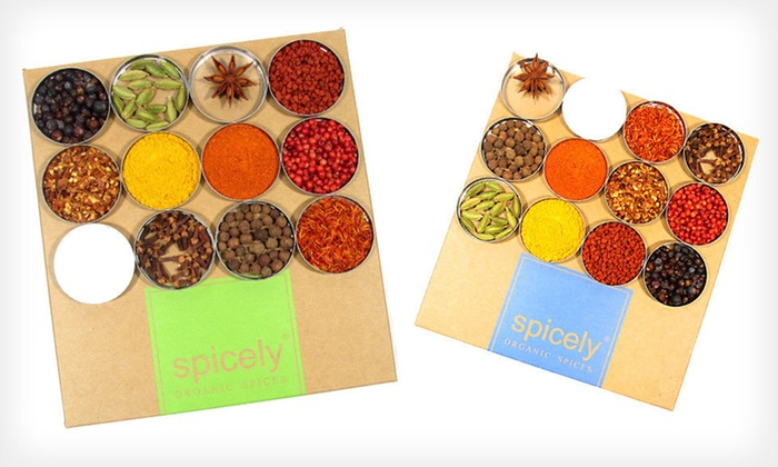 Spicely Certified-Organic Spice Samplers: $21 for a Spicely Certified-Organic 12-Box Spice Gift-Set Sampler ($42 List Price). Four Options Available. Free Shipping.