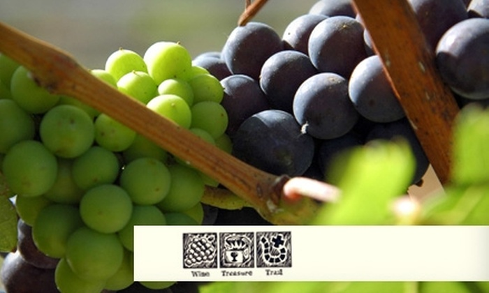 Wine Treasure Trails - Cental Napa: $40 for a Four-Stop Winery Treasure Hunt with Tastings from Wine Treasure Trails ($75 Value)