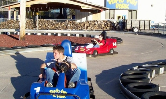 Papio Fun Park - Papillion: $10 for All-Day Unlimited Go-Karts, Mini Golf, Laser Tag, Spaceball, and Jumpshot at Papio Fun Park ($20 Value)