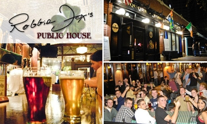 Robbie Fox's Public House - Downtown Tempe: $15 for $30 Worth of Traditional Irish Pub Fare and Drinks at Robbie Fox's Public House